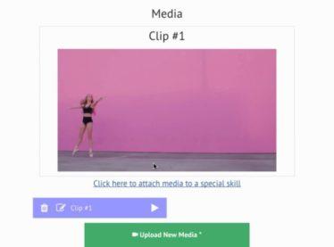 Uploading media reels