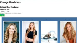 How to Edit and Manage Talent Headshots