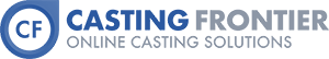 Casting Frontier online casting calls, auditions, and acting job solutions logo